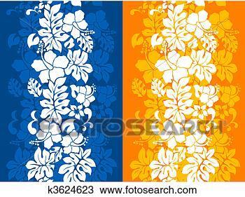 手绘图 - 夏威夷人, 植物群
