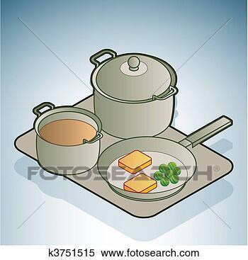 Clipart casserole po le k3751515 recherchez des - Casserole dessin ...