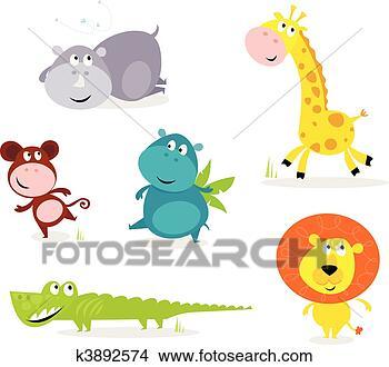 Disegni sei carino animali safari giraffe - Cartone animato giraffe immagini ...