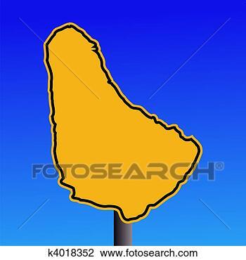 巴巴多斯, 地图