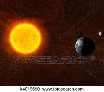 太阳和月亮图画