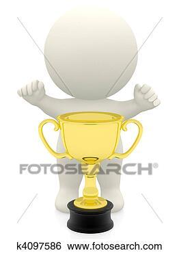 奖杯图例-3d,人,取得v奖杯,漫画k4097586-搜记魔漫画猎战图片