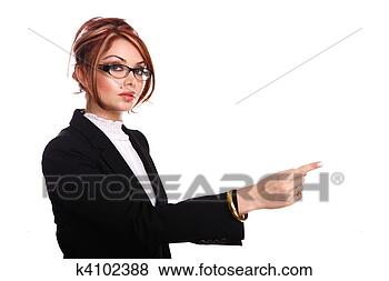 Stock Photo - attractive businesswoman/teacher/secretary.  fotosearch - search  stock photos,  pictures, wall  murals, images,  and photo clipart
