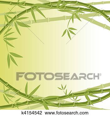剪贴画 - 竹子, 背景