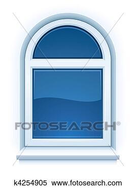 Clipart arched chiuso plastica finestra con - Davanzale interno finestra ...