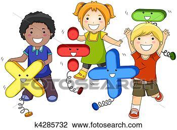 幼儿上数学课卡通图