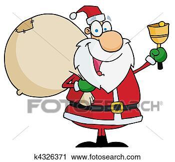 剪贴画 - 圣诞老人, 发出响声