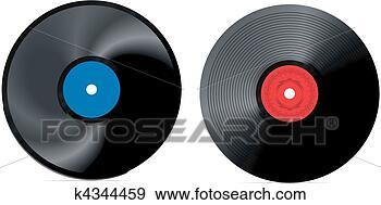 Clip Art Of Retro Vinyl Record Vector K4344459 Search