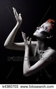 图吧 - 身体, 艺术, 红, 女孩, 银, 剧院 k4360703