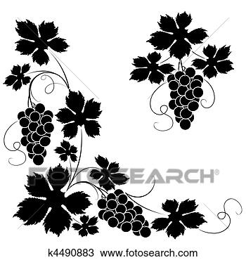 手绘图 - 葡萄树