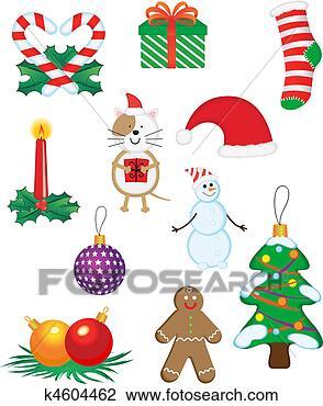 剪贴画 - 圣诞节, 图标