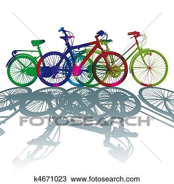 自行车产品手绘图