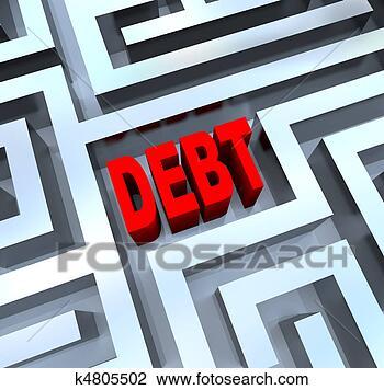 Banco de Imagem - partir, saída,  dívida, labirinto.  fotosearch - busca  de fotos, imagens  e clipart