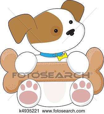 剪贴画 - 漂亮, 小狗,