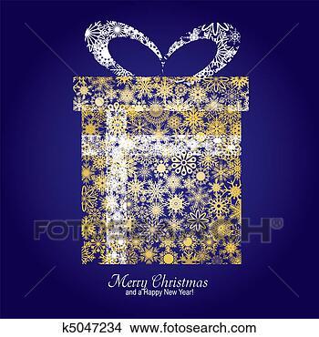 手绘图 - 圣诞贺卡, 带