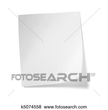 Stock Photo - white note paper 