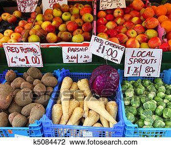 影像 - 新鲜, 英语, 水果, veg k5084472 - 搜寻摄