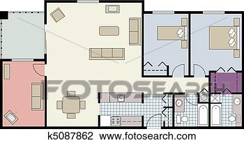 Furniture Clipart For Floor Plans