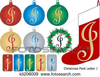 stock illustration weihnachten schriftart brief j. Black Bedroom Furniture Sets. Home Design Ideas