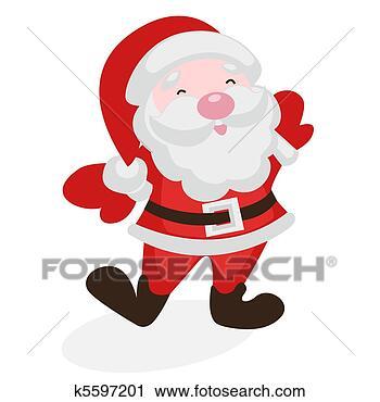 剪贴画 - 玛丽, 圣诞老人