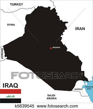 伊拉克, 地图