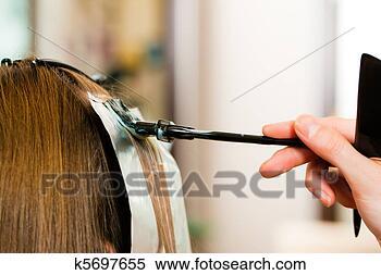 Banco de Imagem - cabeleireiras,  mulher, novo,  cabelo. fotosearch  - busca de fotos,  imagens e clipart