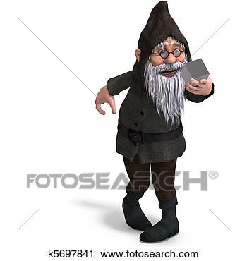 Niedlich und lustig karikatur kleingarten gnome 3d übertragung