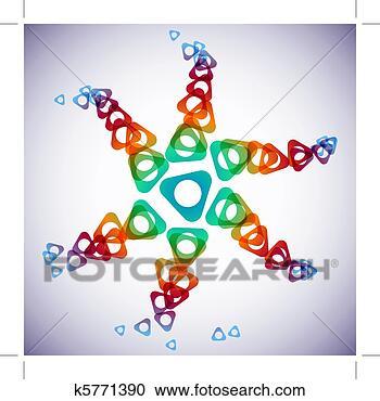 图解或插画 - 三角形,