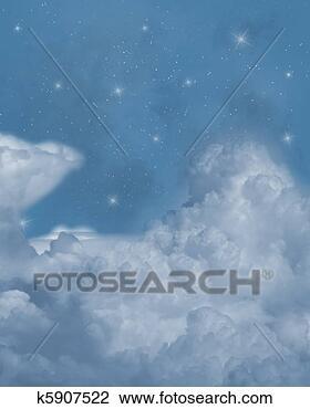 剪贴画 - 星, 天空