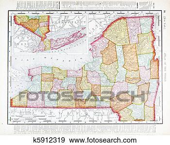 美国纽约州地图