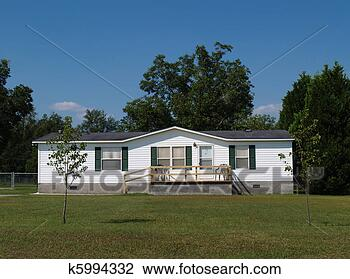 Stock Photo Of Single Wide Mobile Residential Home