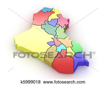 地图, 伊拉克