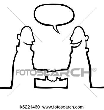 图解或插画 - 两个人,