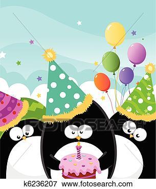 Arquivos de Ilustração - feliz, aniversário.  fotosearch - busca  de imagens de  vetor grã¡fico,  desenhos, clip  art, ilustraã§ãµes