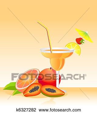 卡通水果动画边框