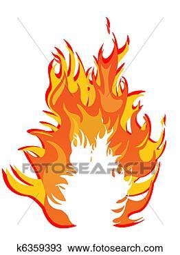 手绘图 - 火, -, 火焰
