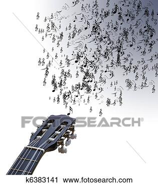 吉他手绘图