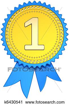 first place award badge template