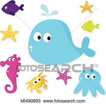 手v小姐-卡通漫画,海,鱼,小姐,,图标,动物,隔同时漫画千斤图片
