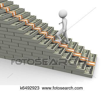 手绘图 - 3d, 美元, 楼梯