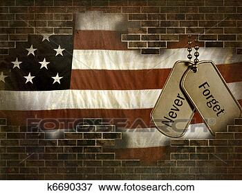 Stock Illustration - military dog tags. 