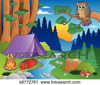 - 卡通, 森林