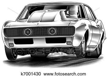 Σκίτσο - 68, turbo, σέρνω, αυτοκίνητο. fotosearch