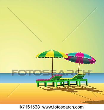 手绘图 - 海滩