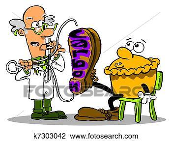 卡通, 科学家, 测量, 饼