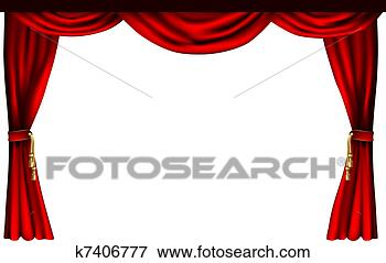 Clip Art Of Theatre Or Cinema Curtains K7406777 Search