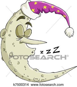 - 睡觉, 月亮