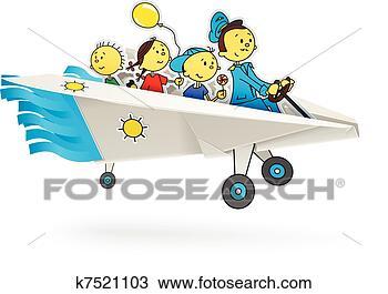 手绘图 - 纸飞机, 带,