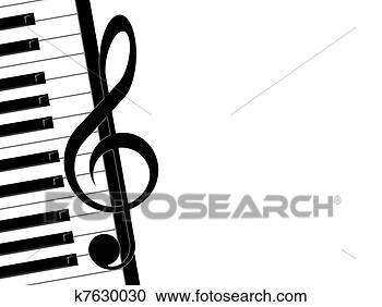 图解或插画 - 高音谱号