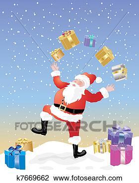 剪贴画 - 耍弄, 圣诞老人